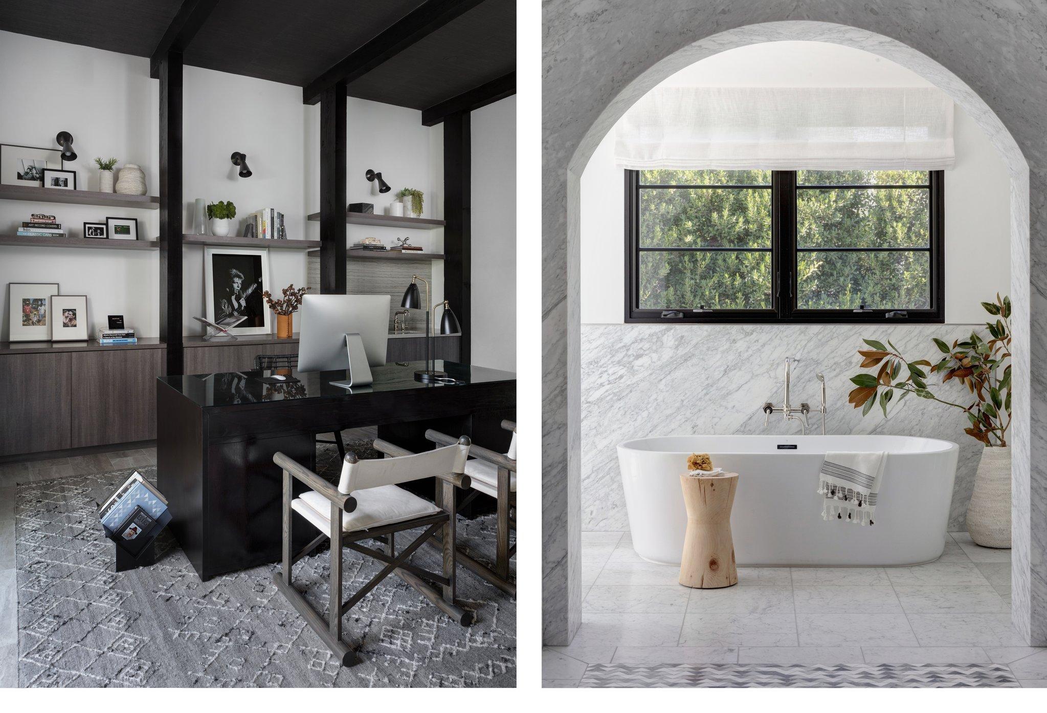 custom bath and home office interior