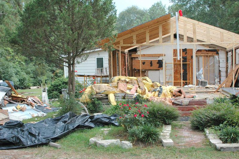 fire damaged house rebuild