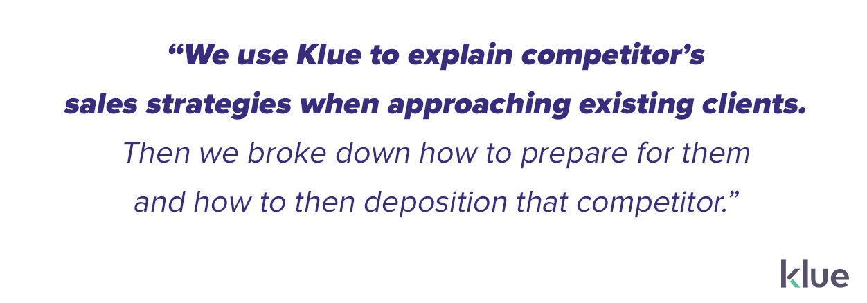 dotdigital uses Klue to break down a competitor's sales strategy when targeting their clients