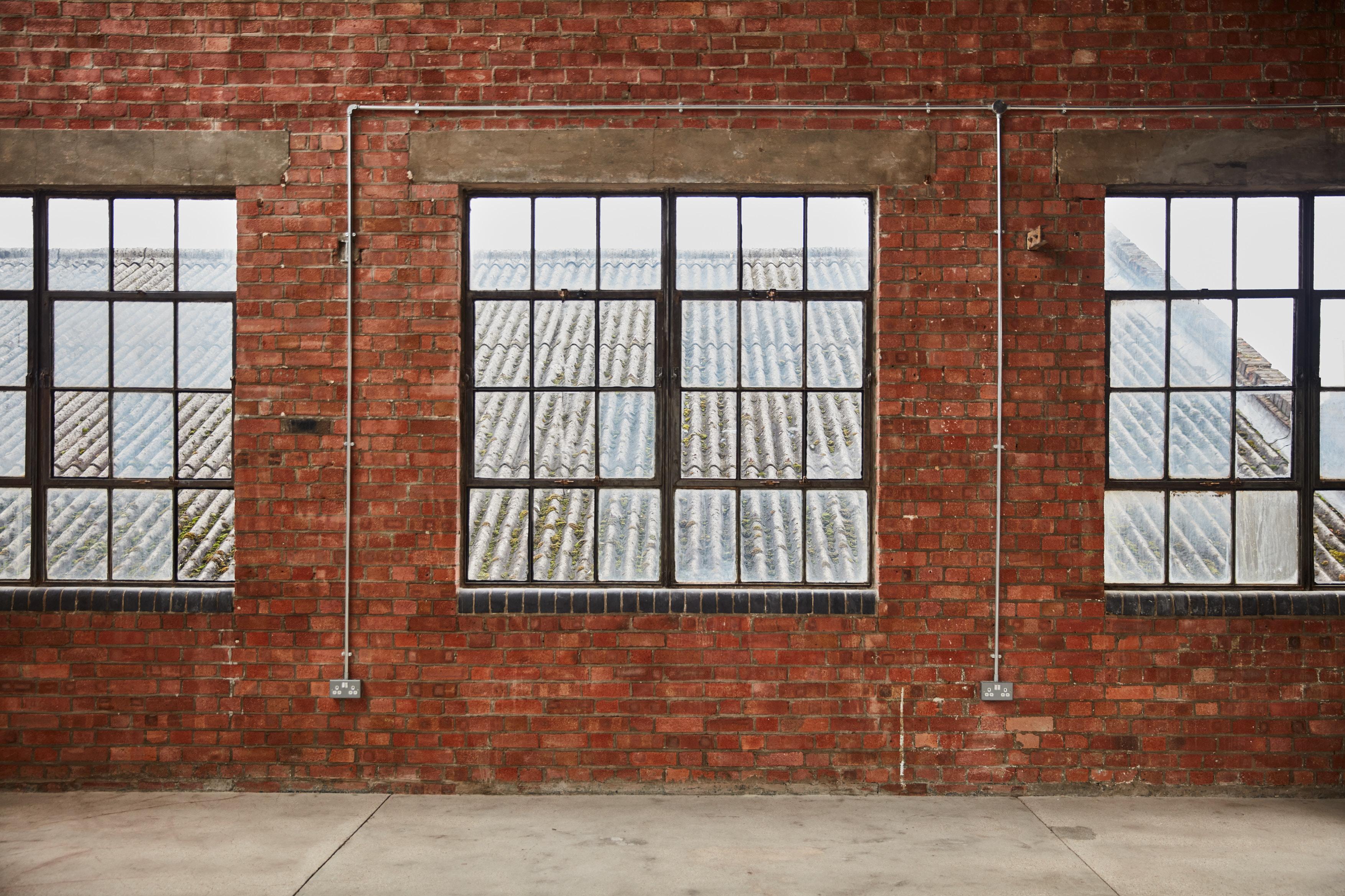 warehouse brickwork and windows