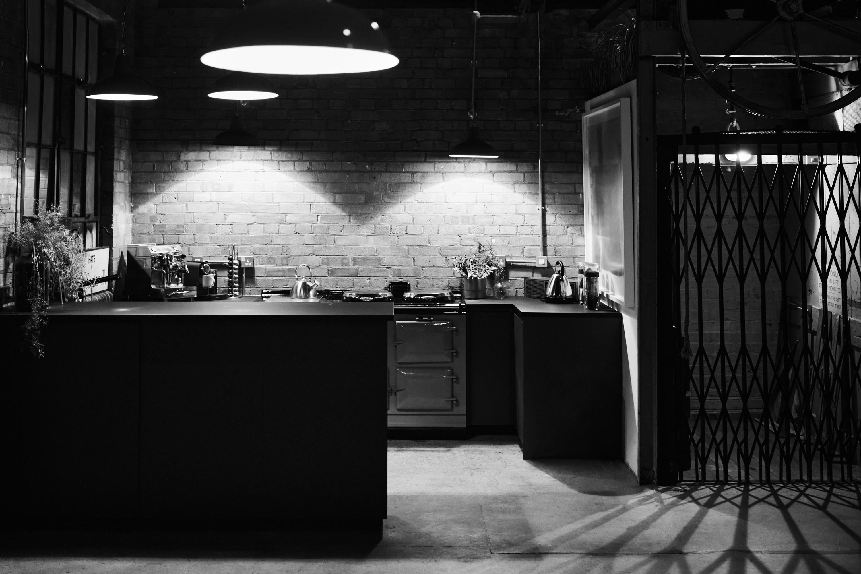 warehouse kitchen and lift