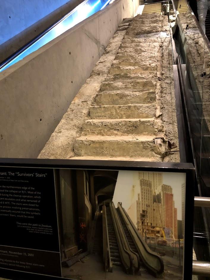 """""""מדרגות השורדים"""" במוזיאון ההנצחה לחללי הפיגועים"""