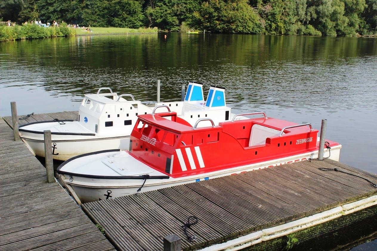 סירות חשמליות לילדים באגם ביער אמסטרדם