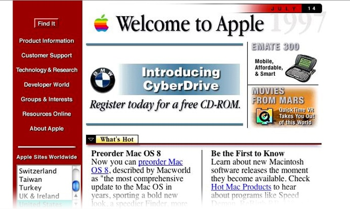 old apple website