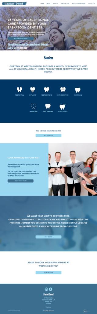 Dentist website design - lakeareadentistry