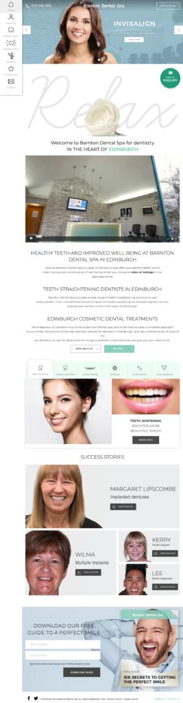 Dentist website design in the uk