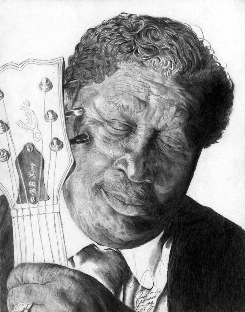 This is a print the original Roger L. Long B. B. King portrait. Your signed print will be securely delivered, with a certificate of authenticity and ready to frame. Notice: This print is also available in different sizes. If you have any questions about custom originals or more, feel free to visit how to order a custom original page on this site. Thanks for viewing and purchasing!