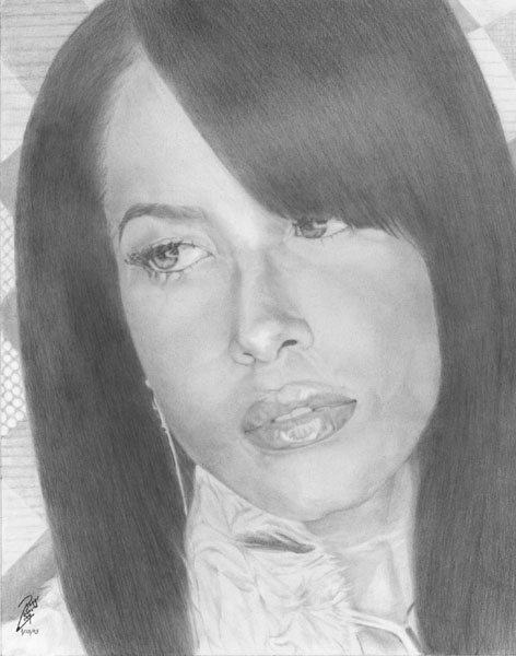 The graphite portrait of Aaliyah was completed with Derwent pencils in about 10 hues. The hair was one of my favorite things to recreate in this piece. Your signed print and will be securely delivered matted with a certificate of authenticity and ready to mount in a standard frame. Thank you for collecting and viewing. Join my mailing list for new portrait print release and more!