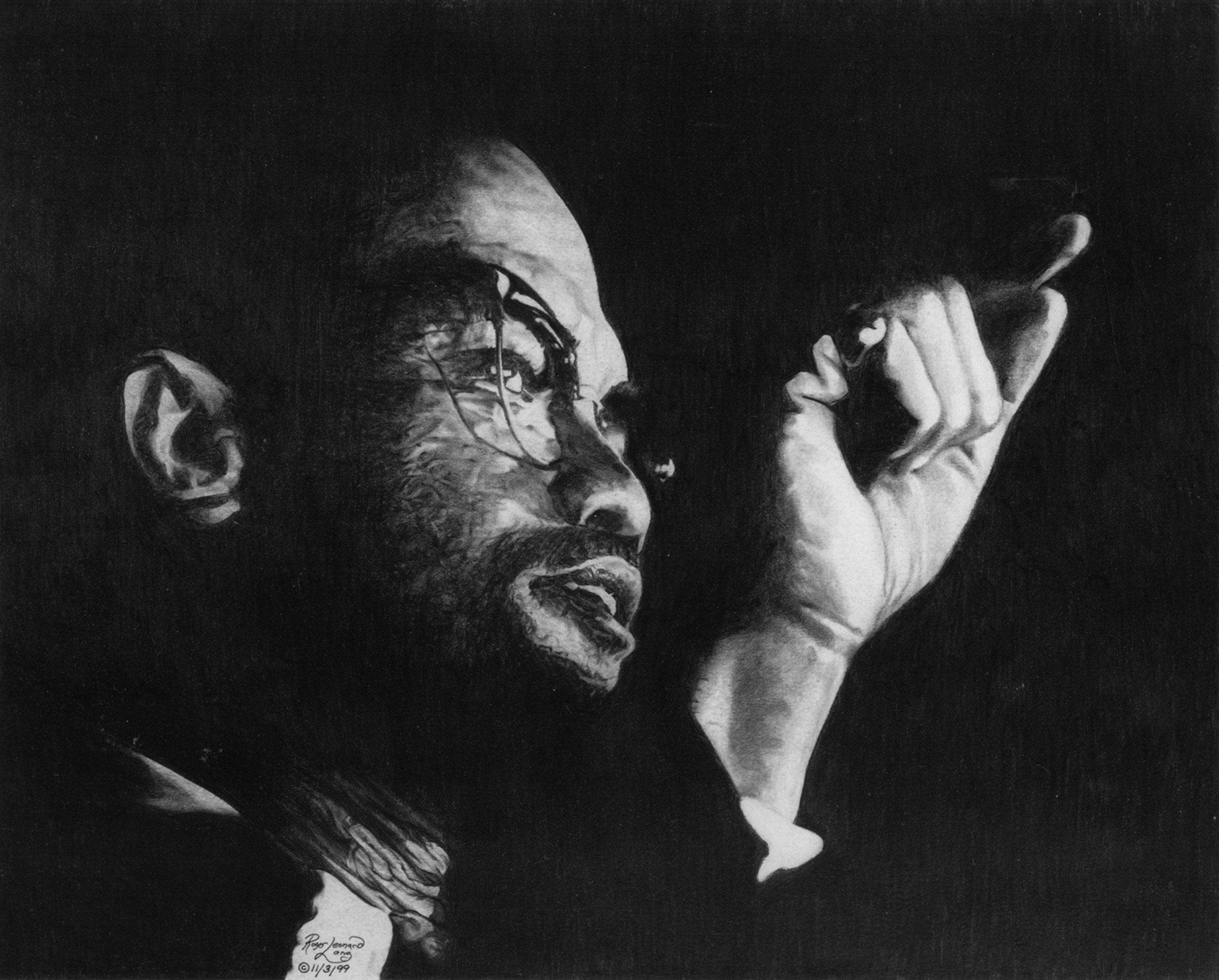 This exclusive fine art print is of Malcolm X. created with graphite. It is part of my original collection of legendary political, cultural, musical giants. Your high-quality print captures the realism of that original work. The print will be delivered plastic-wrapped and ready for easy framing. Thank you for collecting/viewing. Join my mailing list to get the lastest news on portrait art print releases and more!