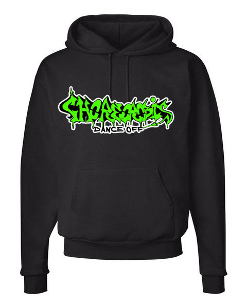Get your authentic Choreorobics Street gear. This hoodie features: 60% cotton, 40% polyester 1x1 ribbed cuffs and waistband with spandex Matching drawcord Pouch pocket Double-lined hood