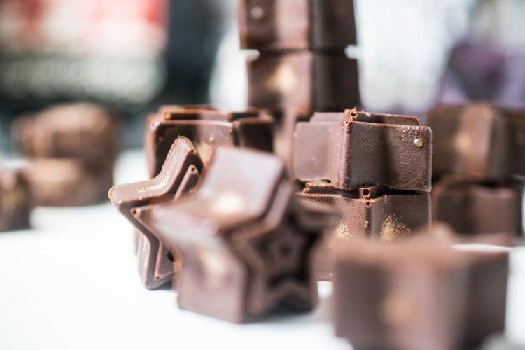 Star shape healthy chocolates