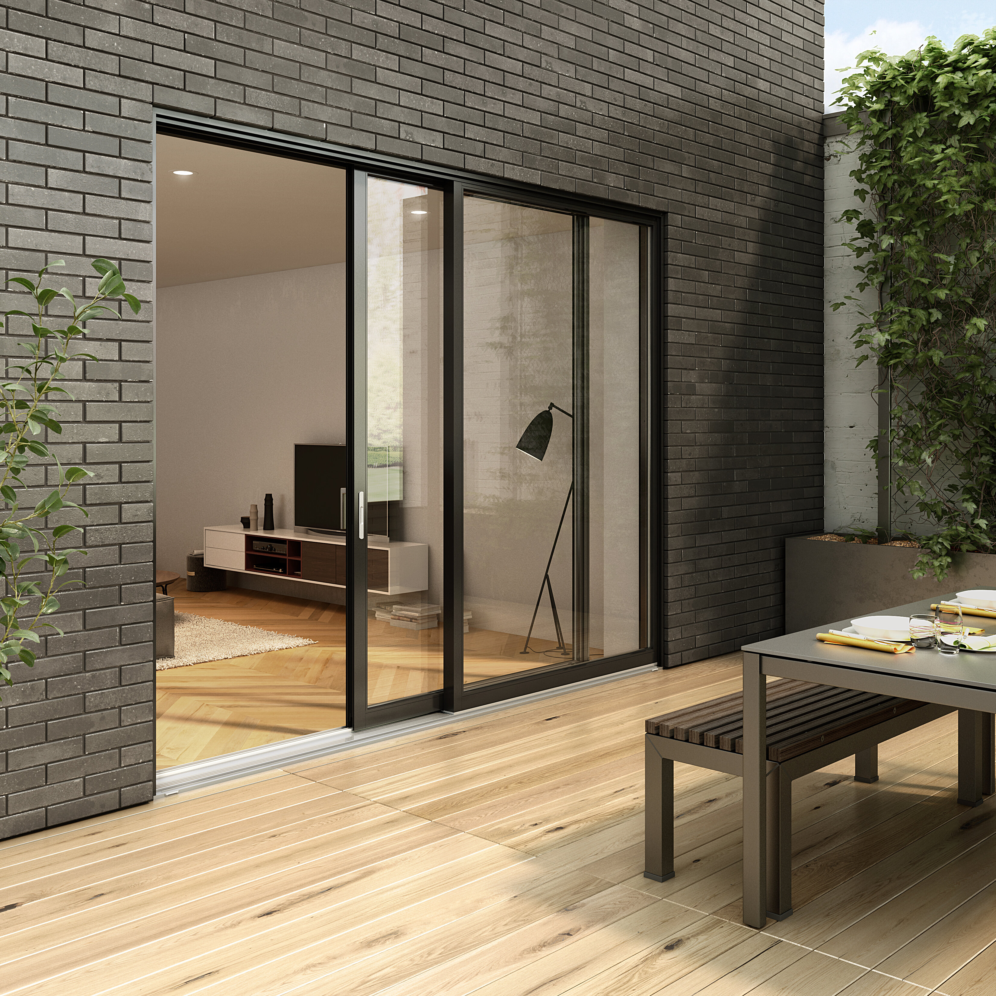 The loft patio door category image for aluminum patio doors