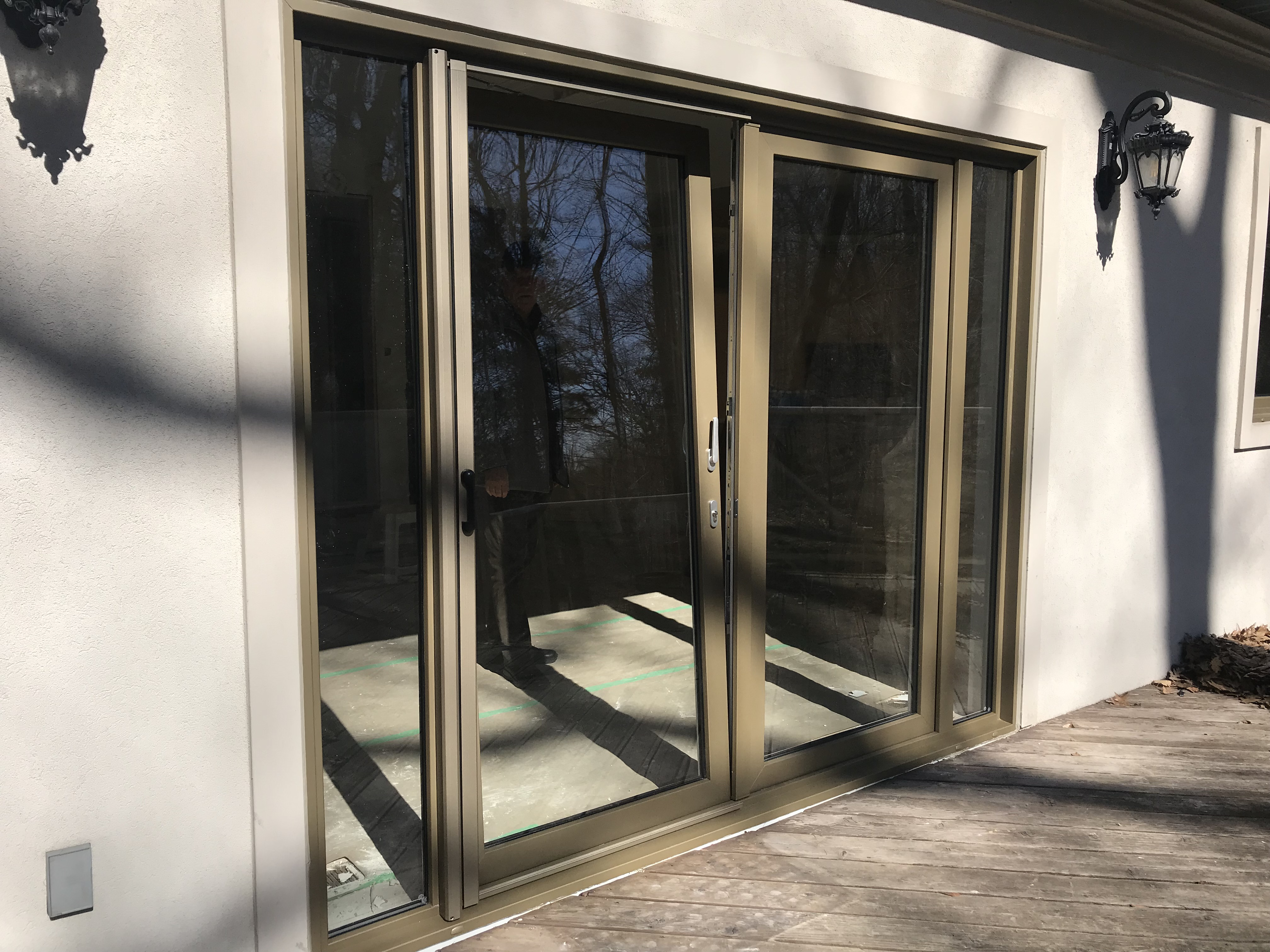 vinyl tilt and turn patio doors with sable colouring from euro vinyl