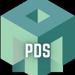 Patio Door Store logo with designated letters