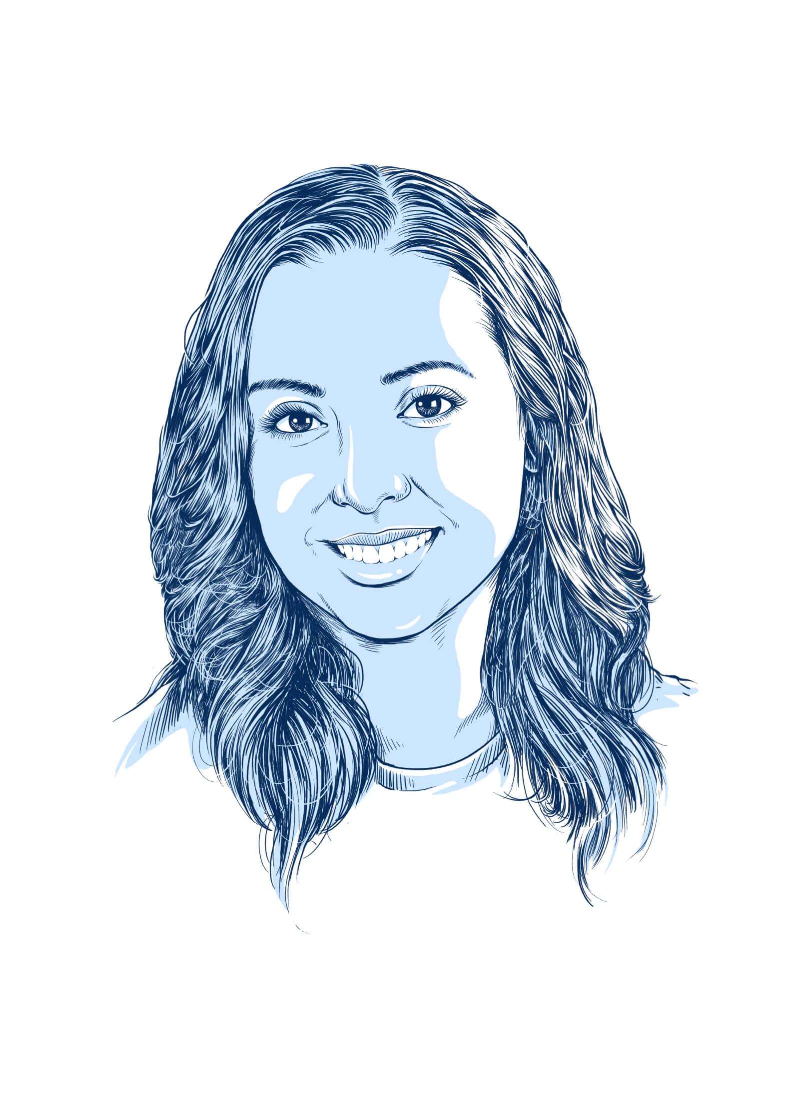 female professional headshot illustrated