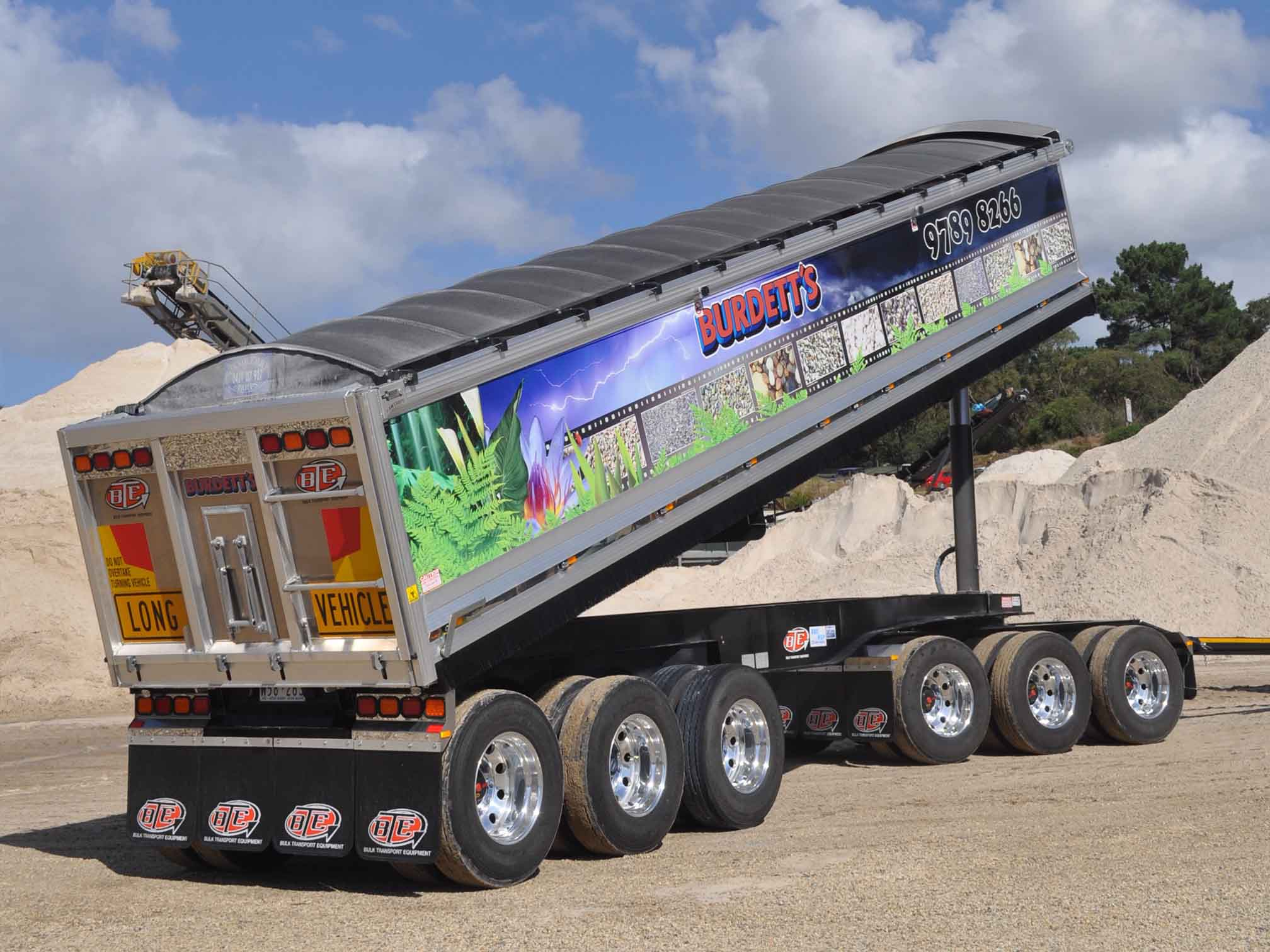 6 Axle Dog BTE Bulk Transport Equipment Trailer