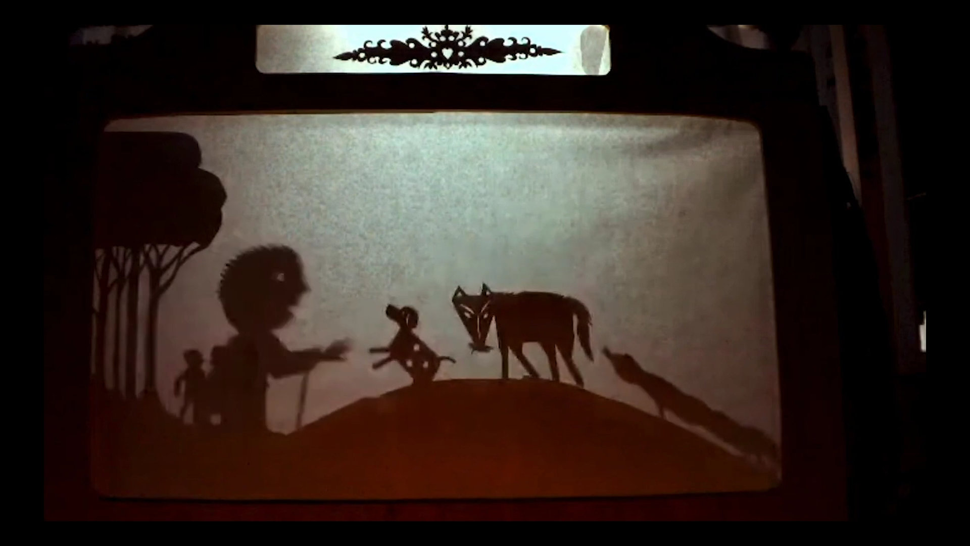 a screenshot from a shadow puppet performance available on the la mama patreon