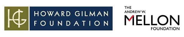 The logos of the Andrew W. Mellon Foundation and the Howard Gilman Foundation