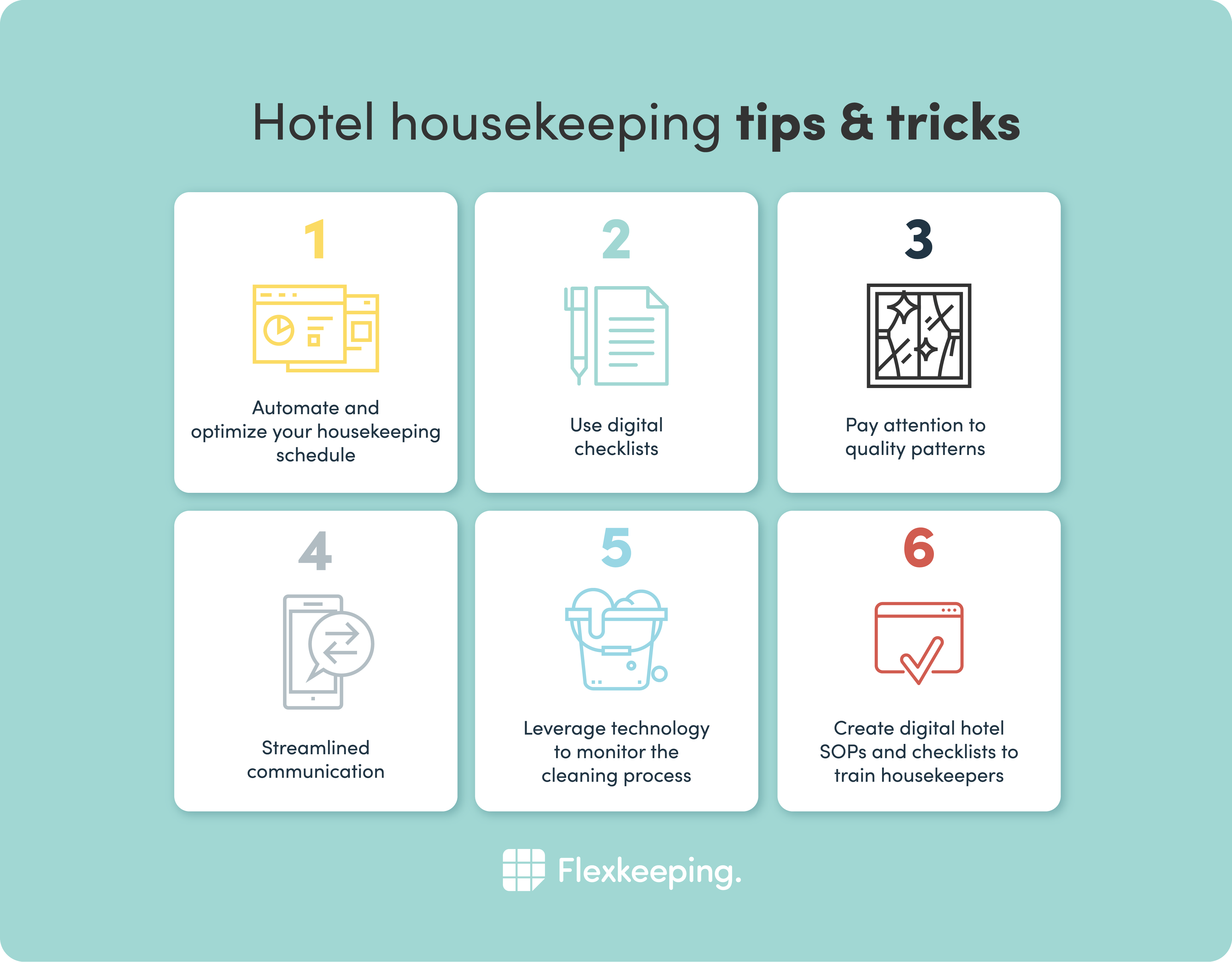 hotel housekeeping tips and tricks
