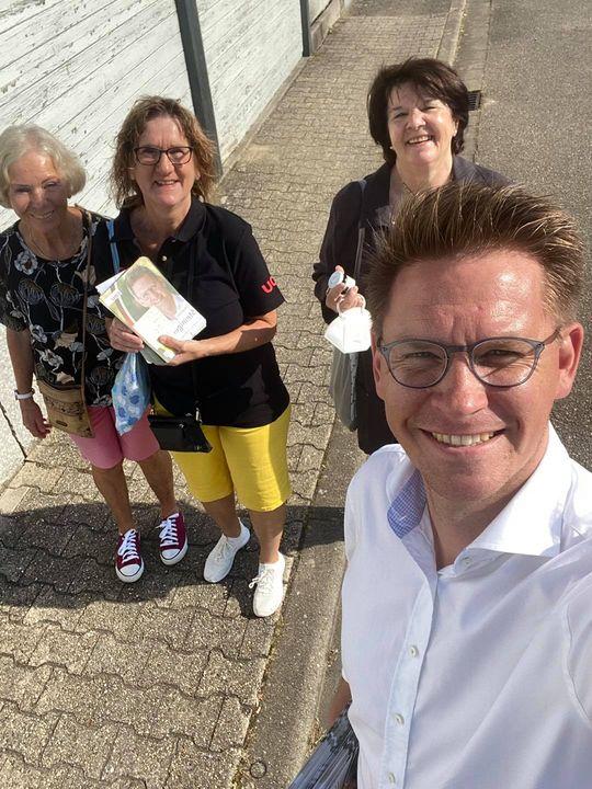 Meine erste Haustür-Tour für den heutigen Tag war mit toller Unterstützung in Römerberg.