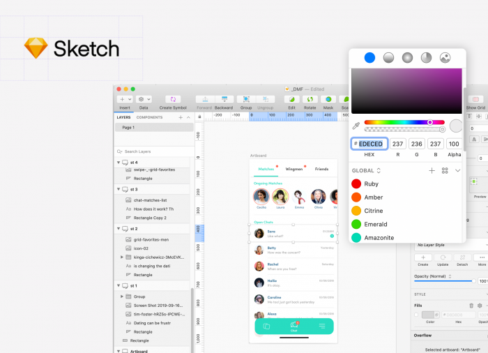 Sketch, on of the best design tools for product design