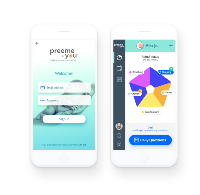 Preeme+You mobile app