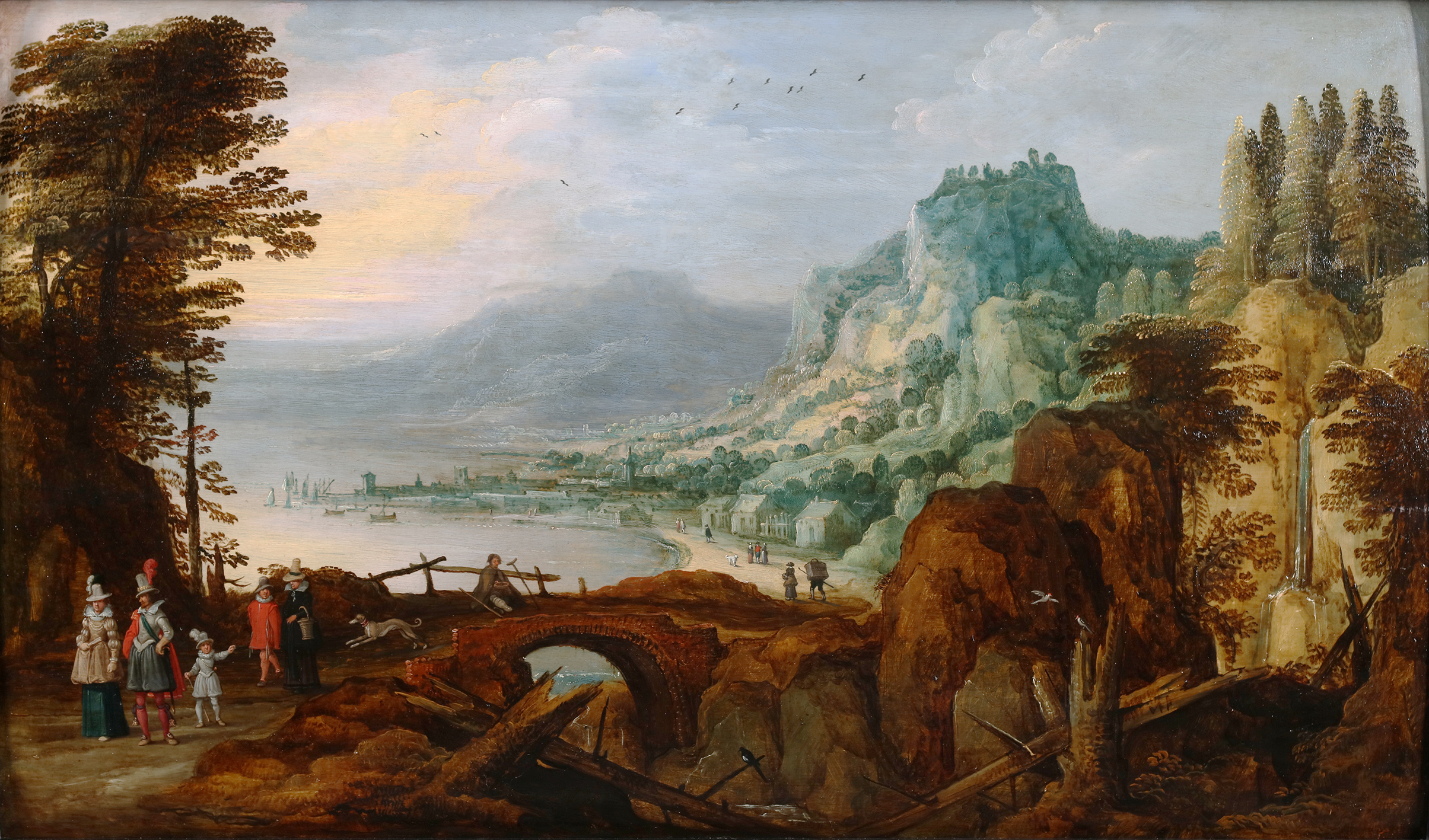 Extensive landscape with gentry