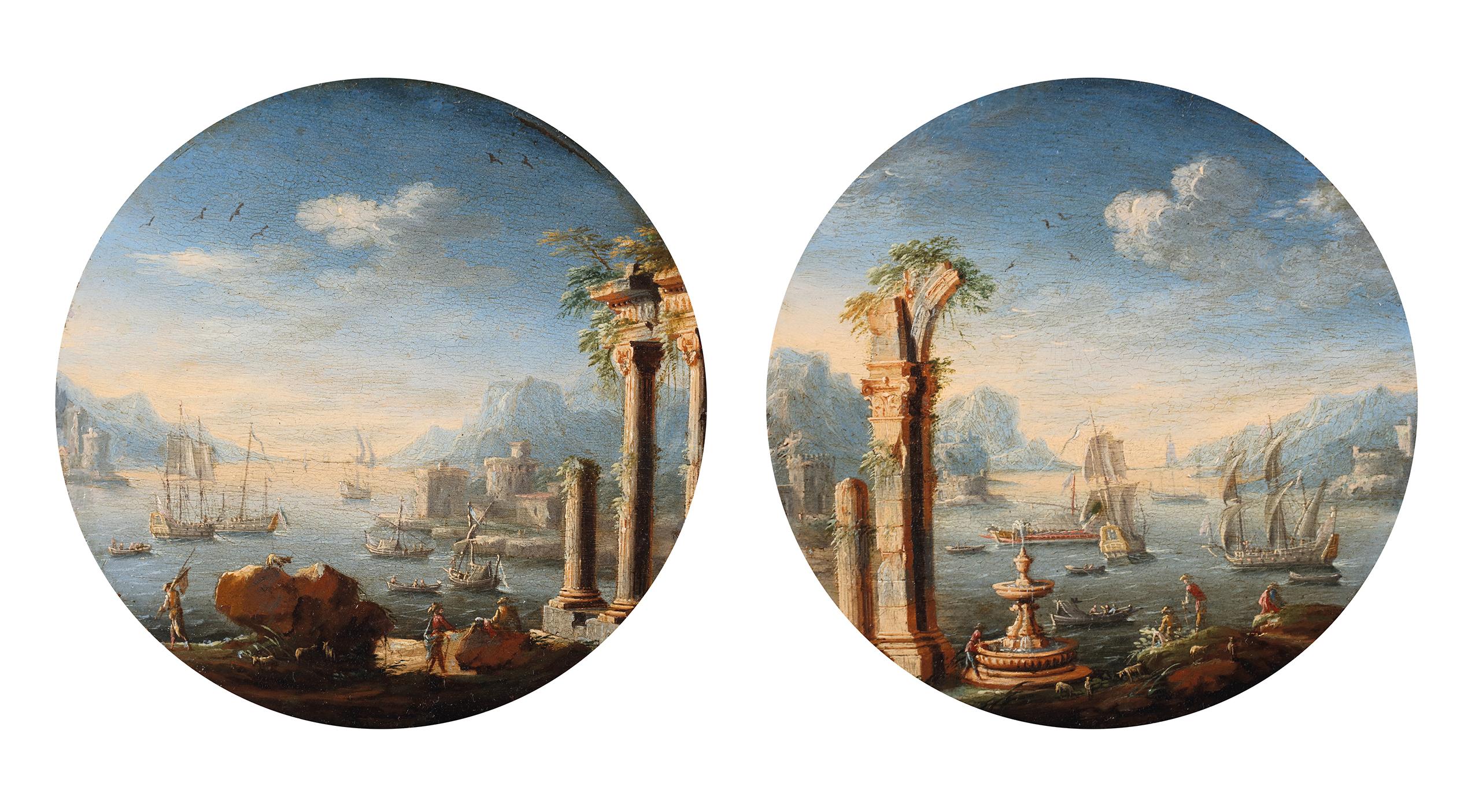 Two capriccio's of mediterranean harbours