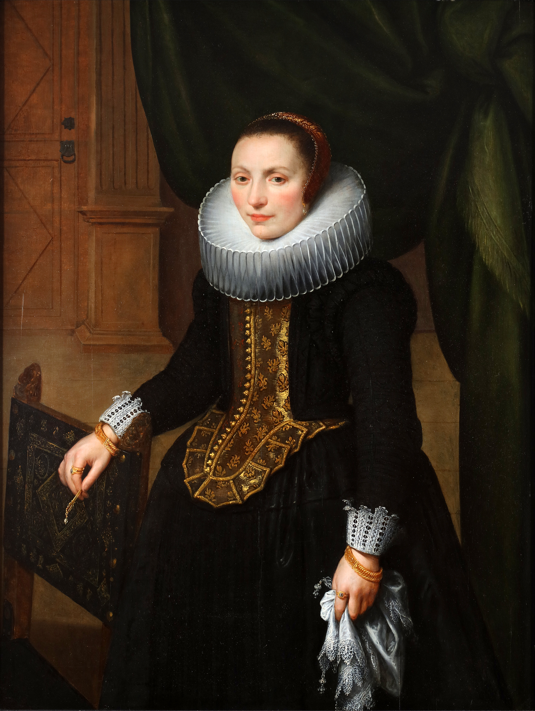 A portrait of Suzanne Cock, the wife of the painter