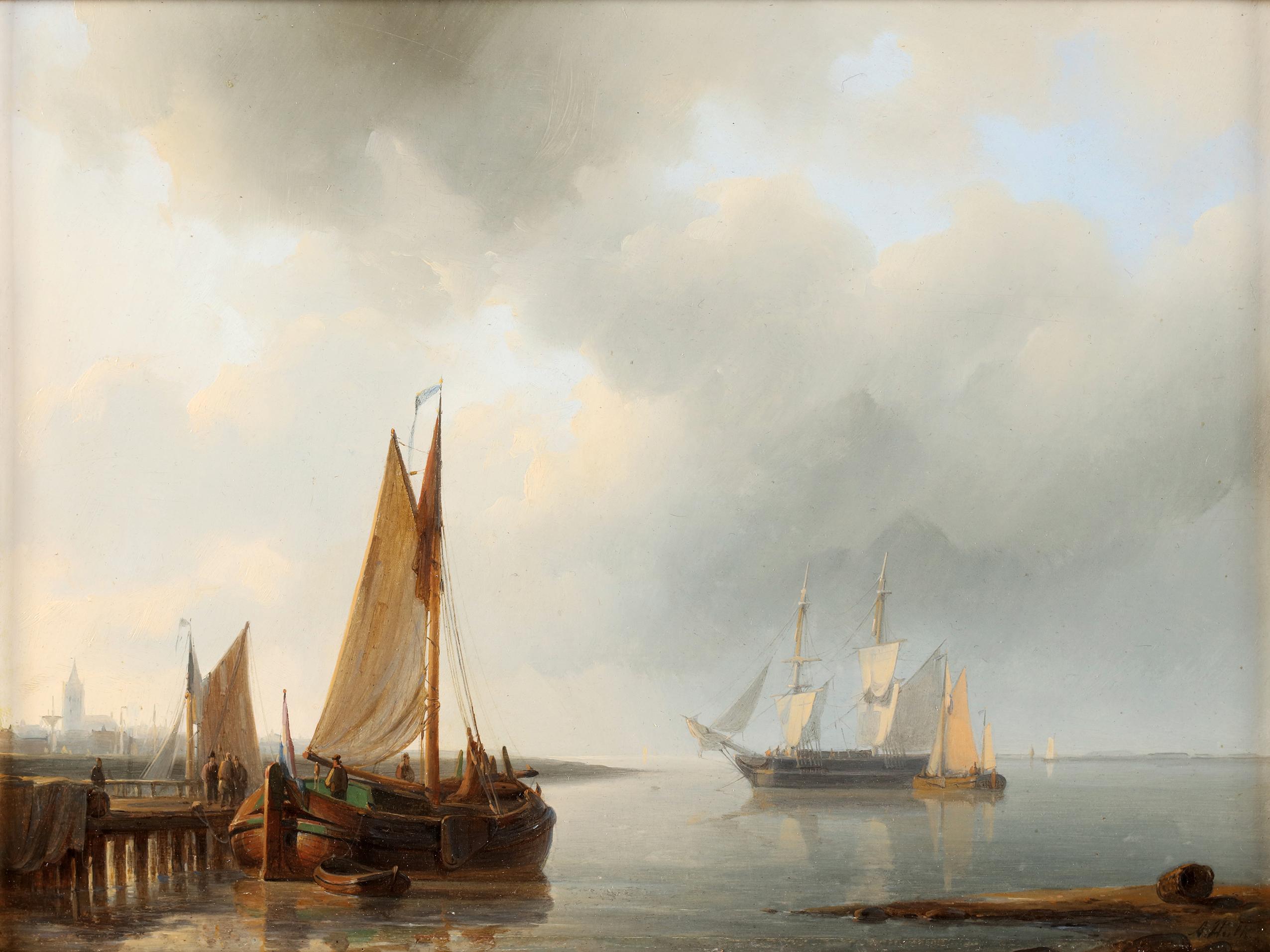 Ships near the port