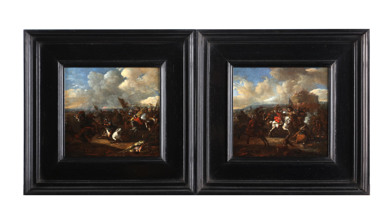 Battle scene between Ottoman and European cavalry
