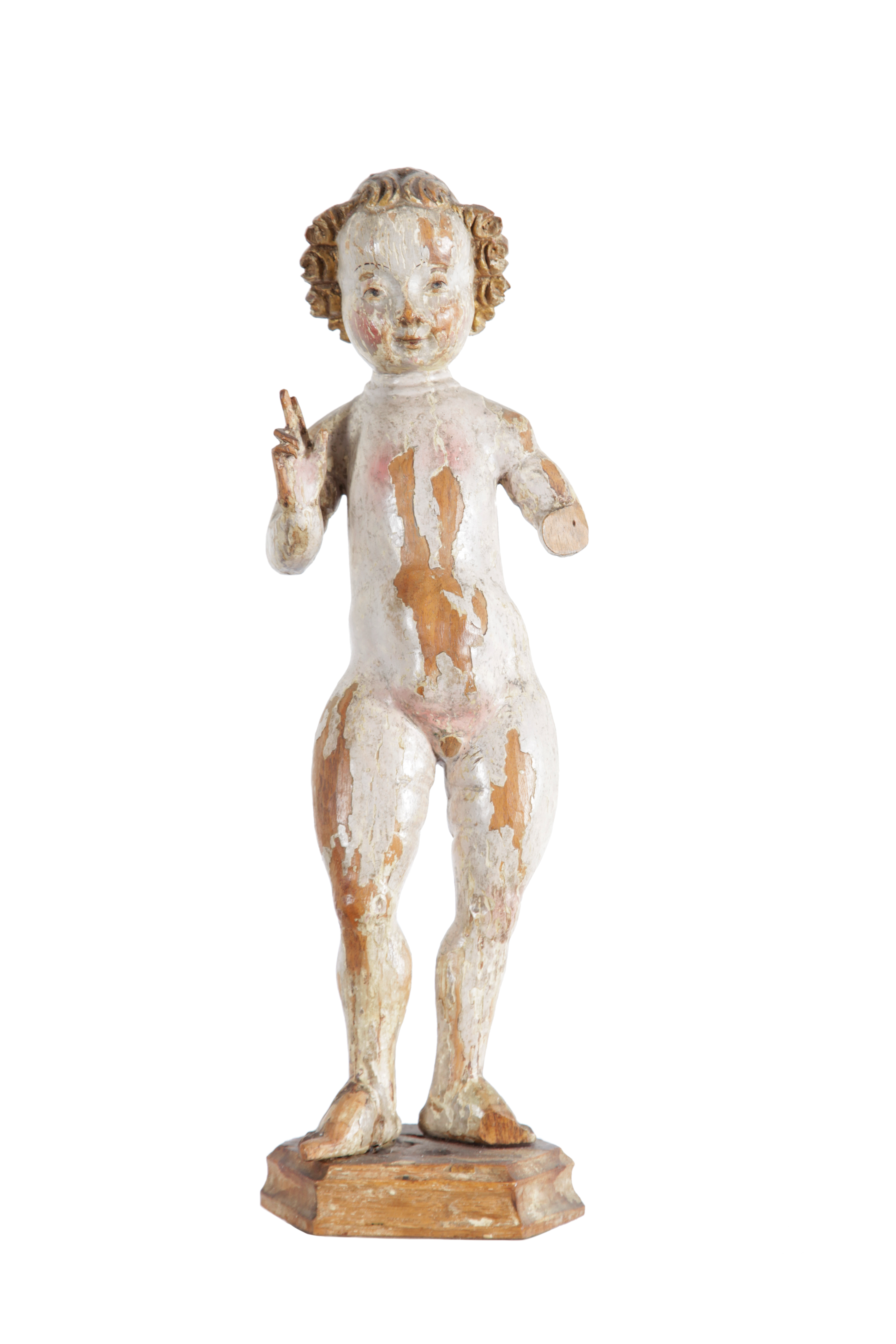 A sculpture representing the Christ Child