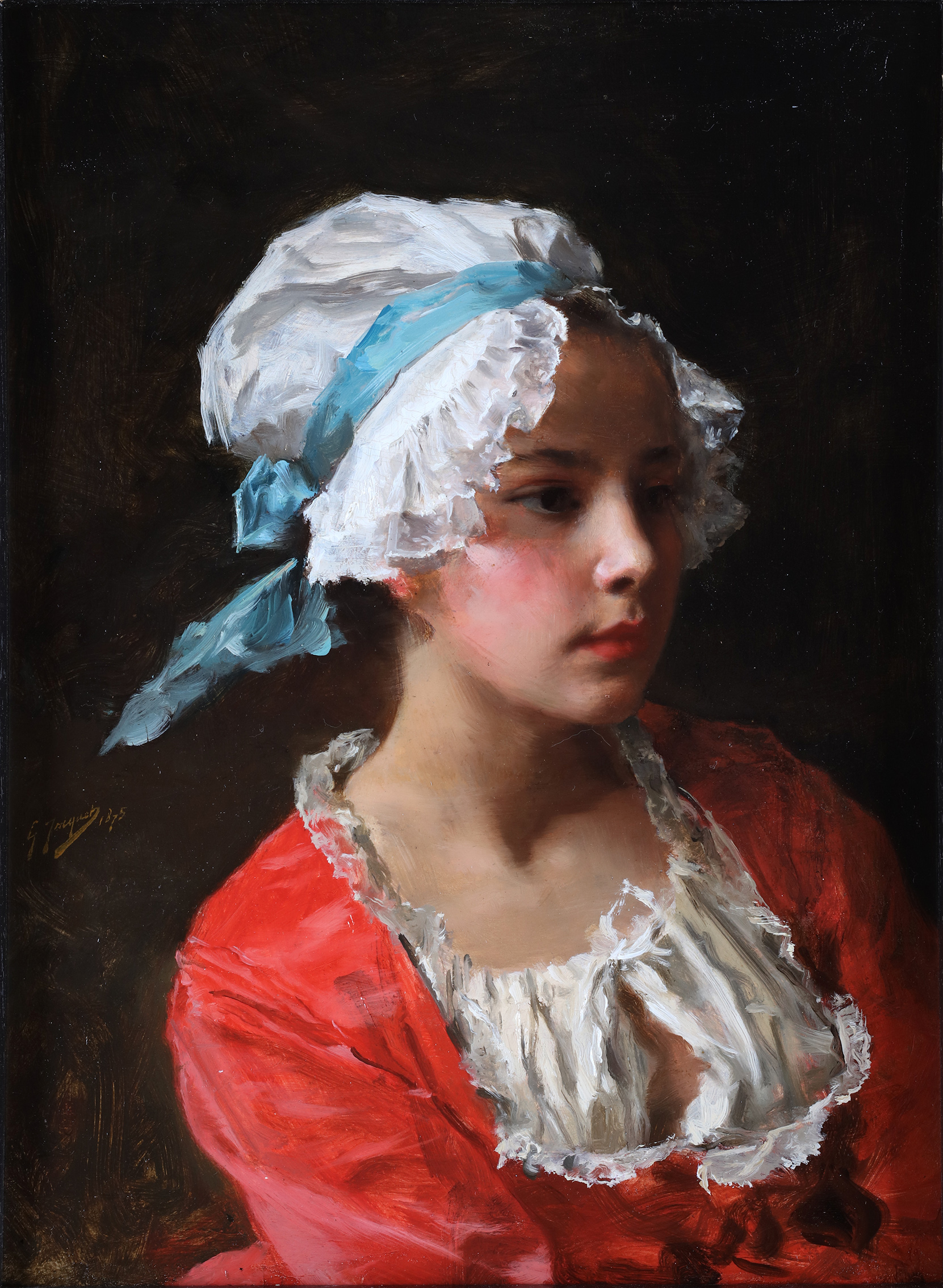 Portrait of a young servant