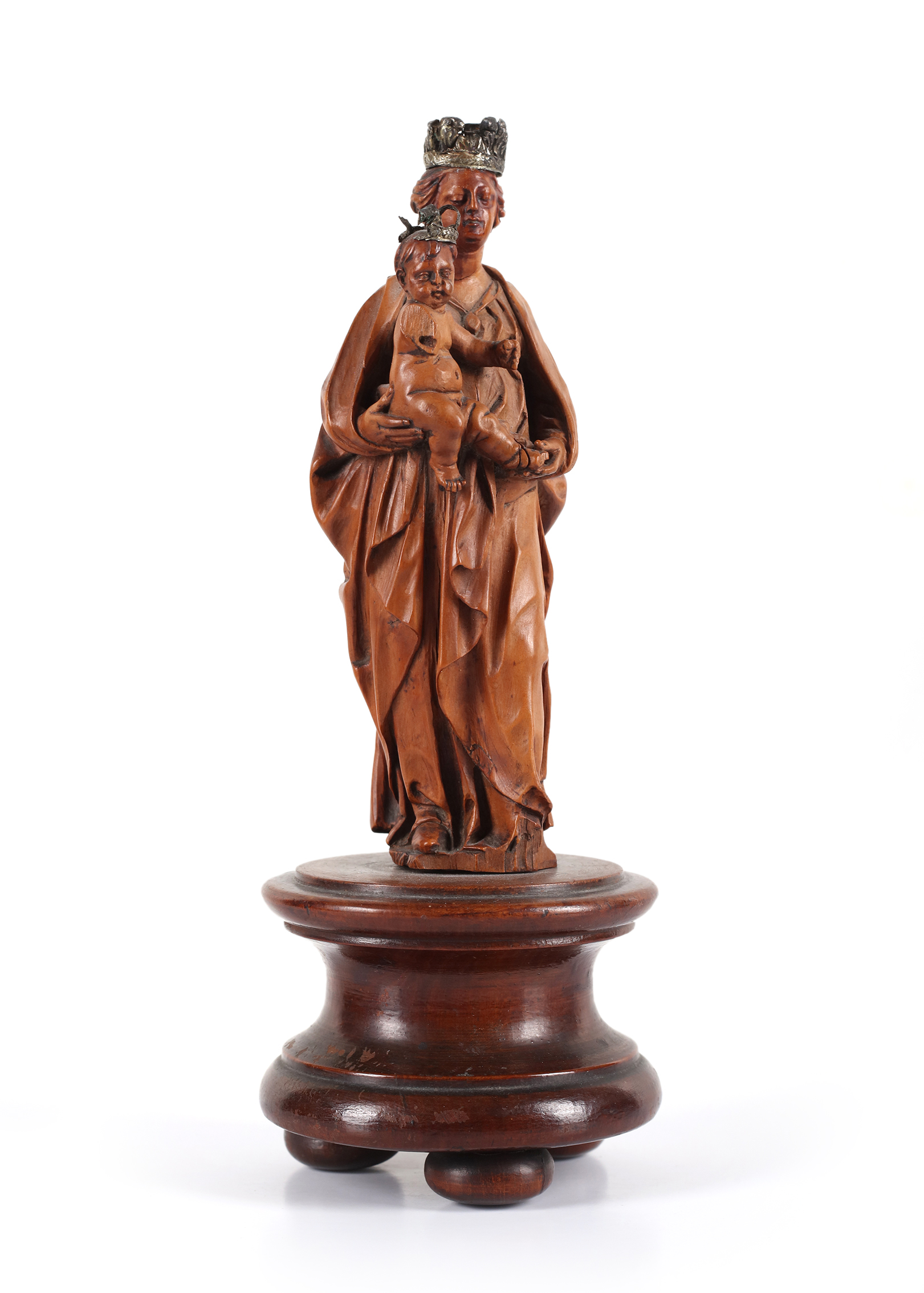 A boxwood group representing the Virgin and Child