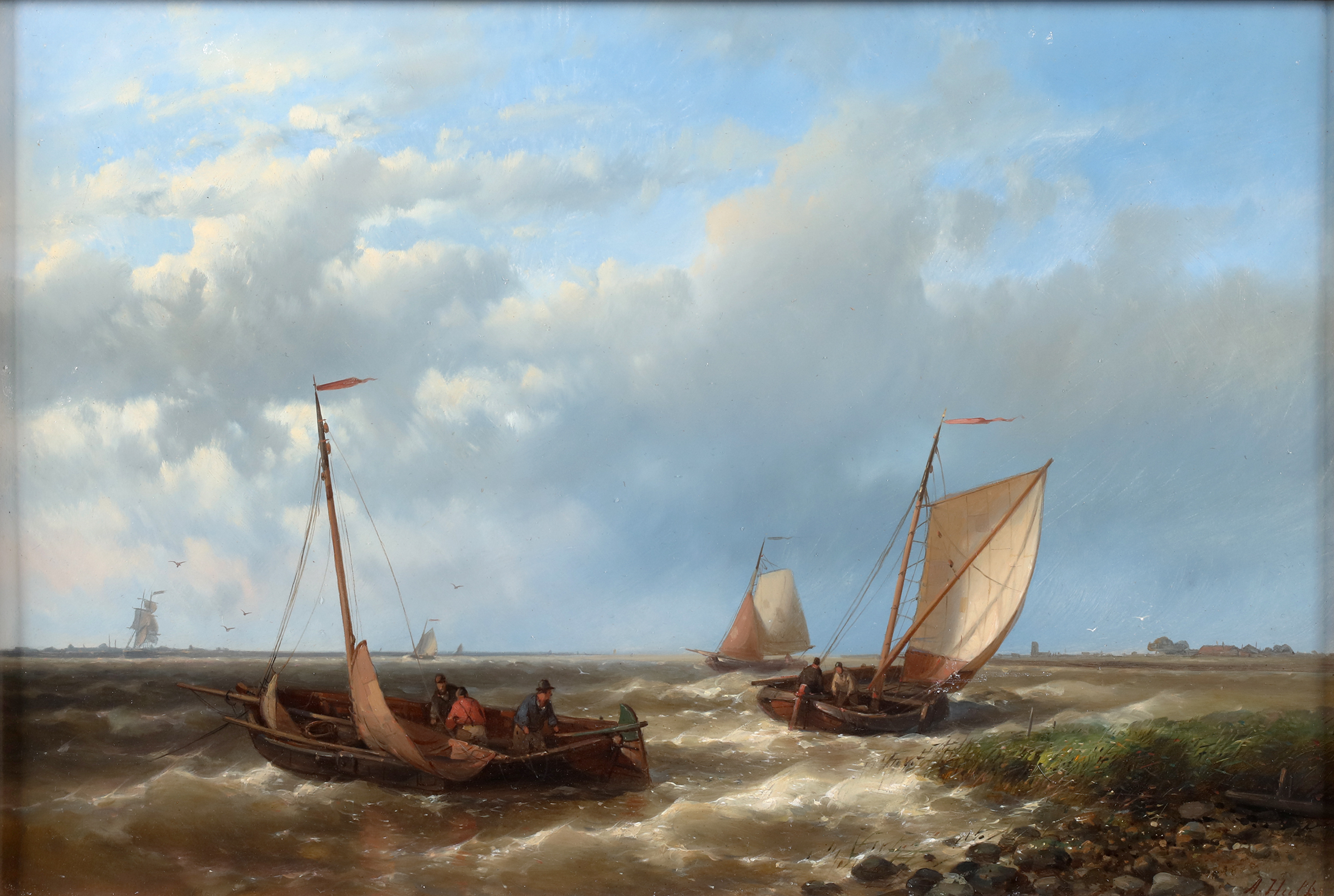Ships near the shore