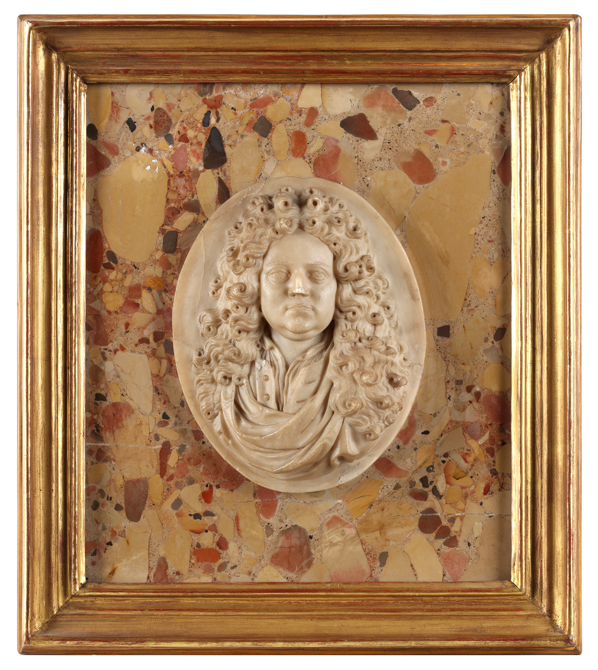 alabaster portrait of a French nobleman