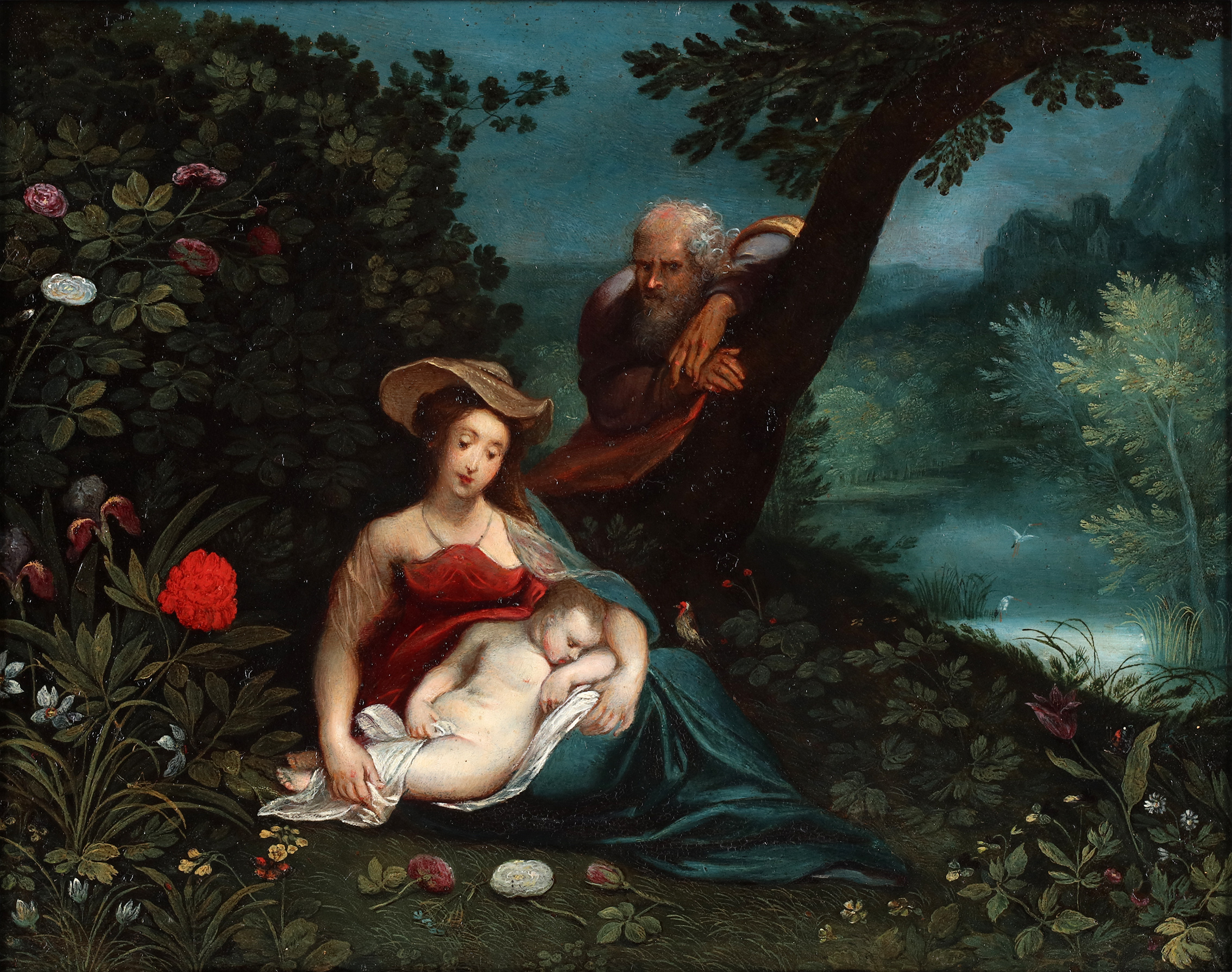 Holy family, the rest on the flight to Egypt