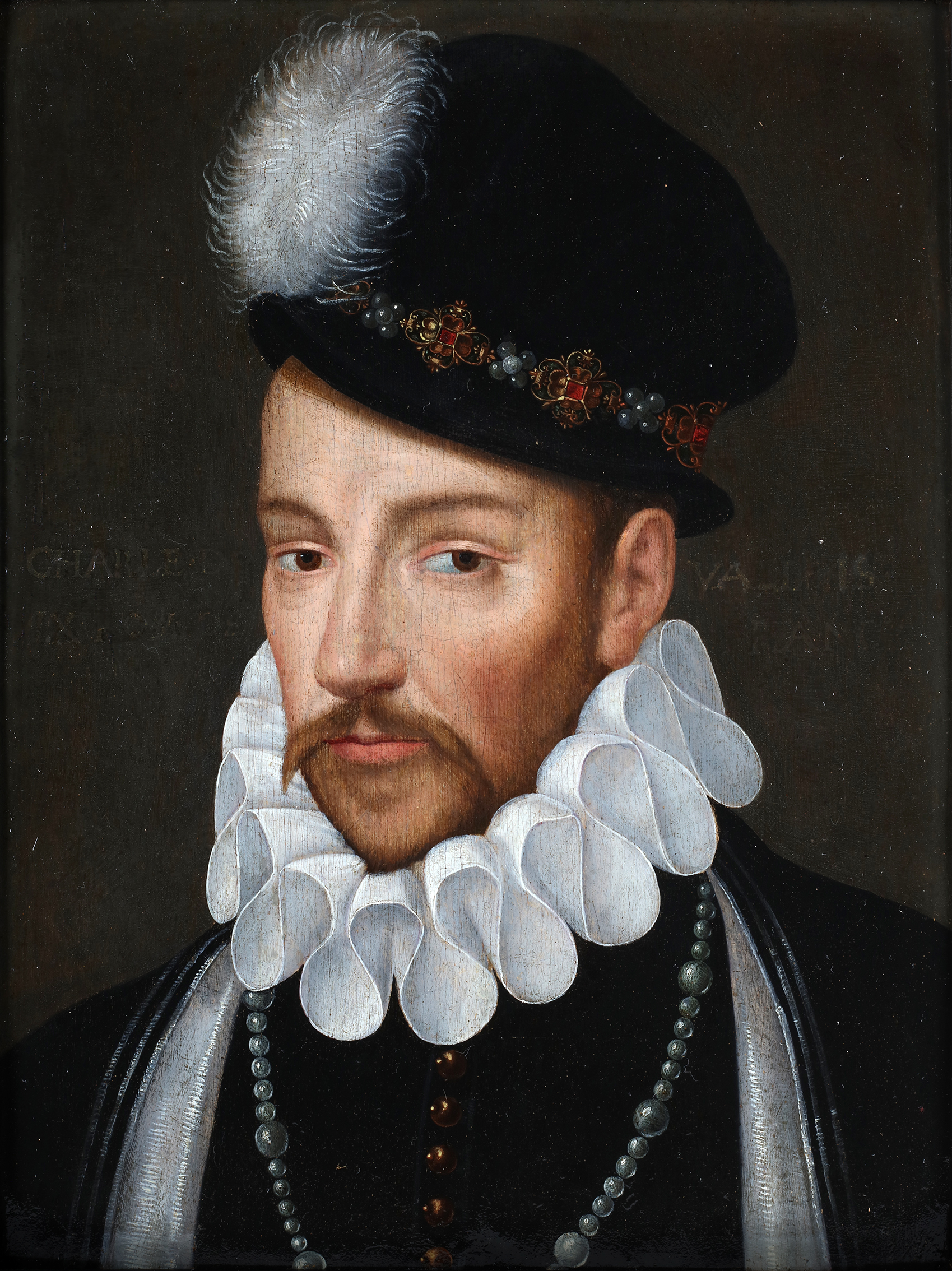 Portrait of Charles  IX count of Valois