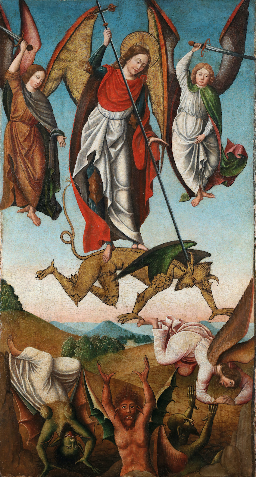 Saint George slaying the Devil