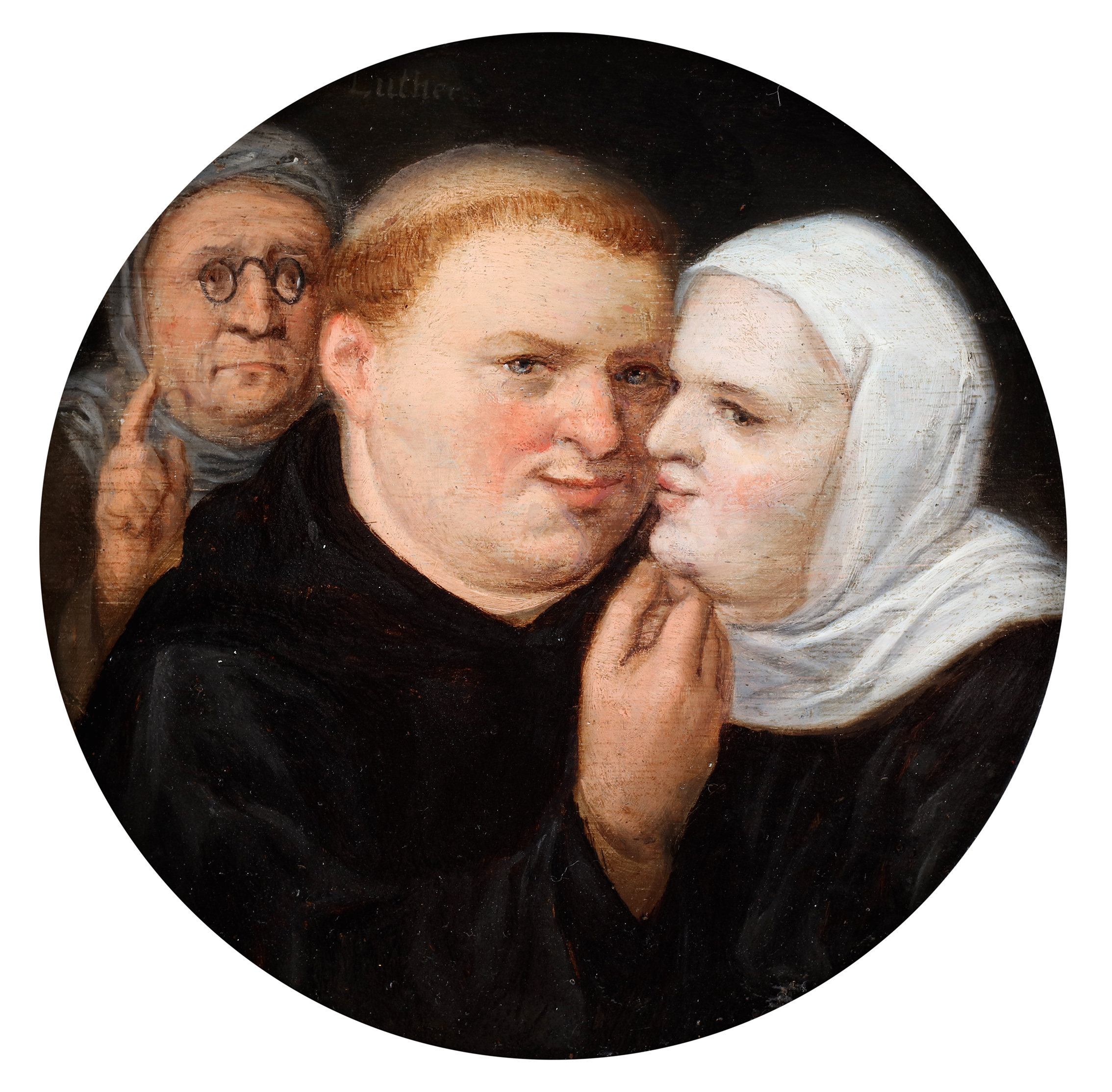 A moralizing scene depicting an 'unwanted connection,' possibly between Luther and Katharina von Bora