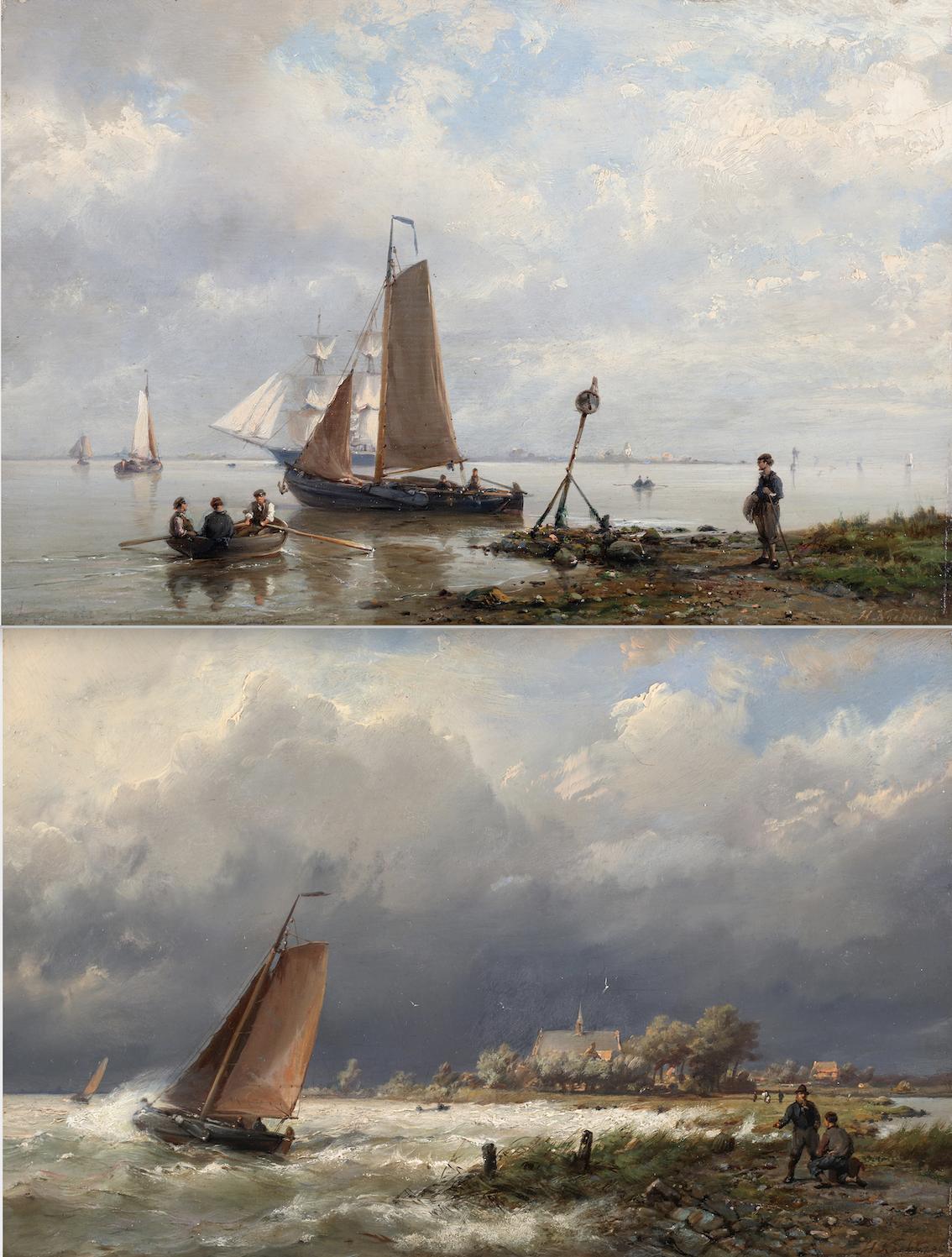 Ships near the shore & Ships in open water