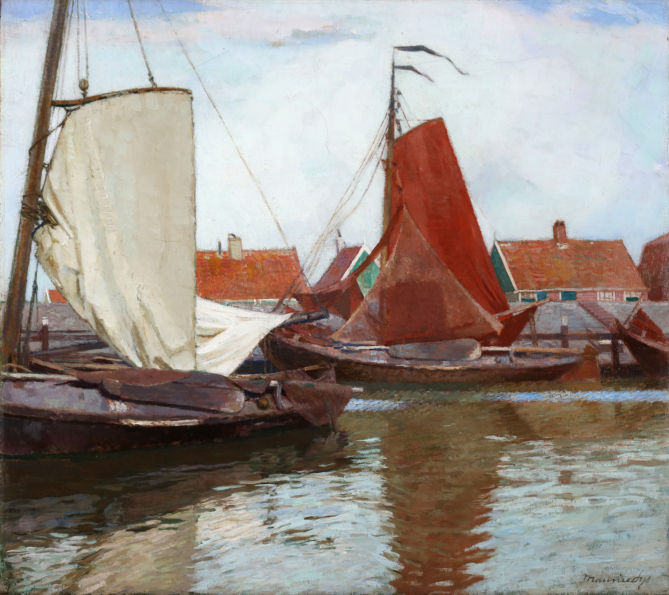 Boats in a Dutch harbour