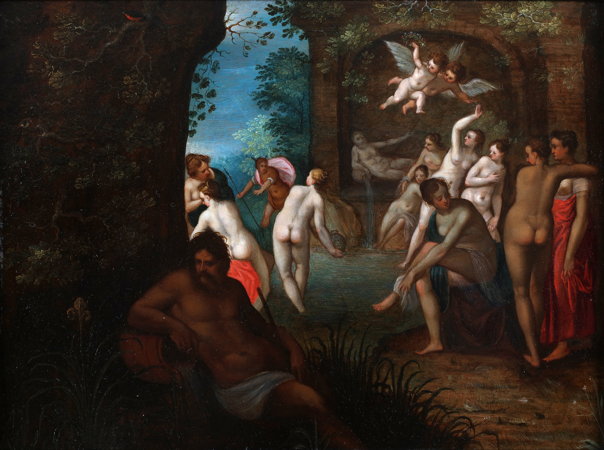 Diana and her companions bathing