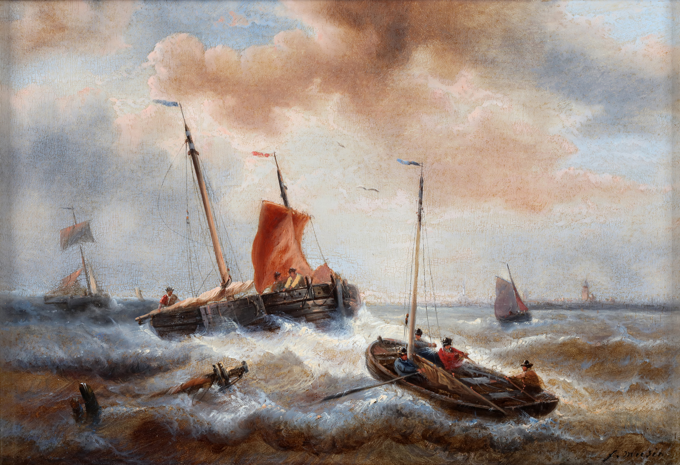 Ships in stormy weather
