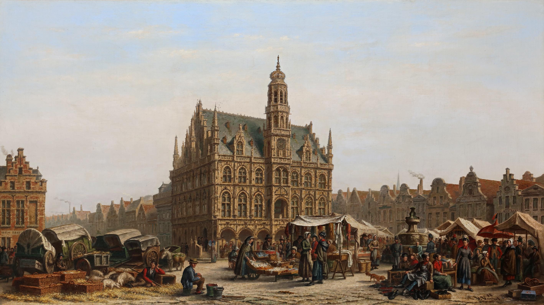 The city hall of Oudenaarde
