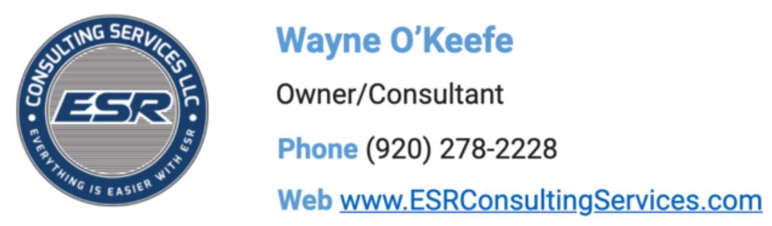 ESR Consulting - Wayne O'Keefe