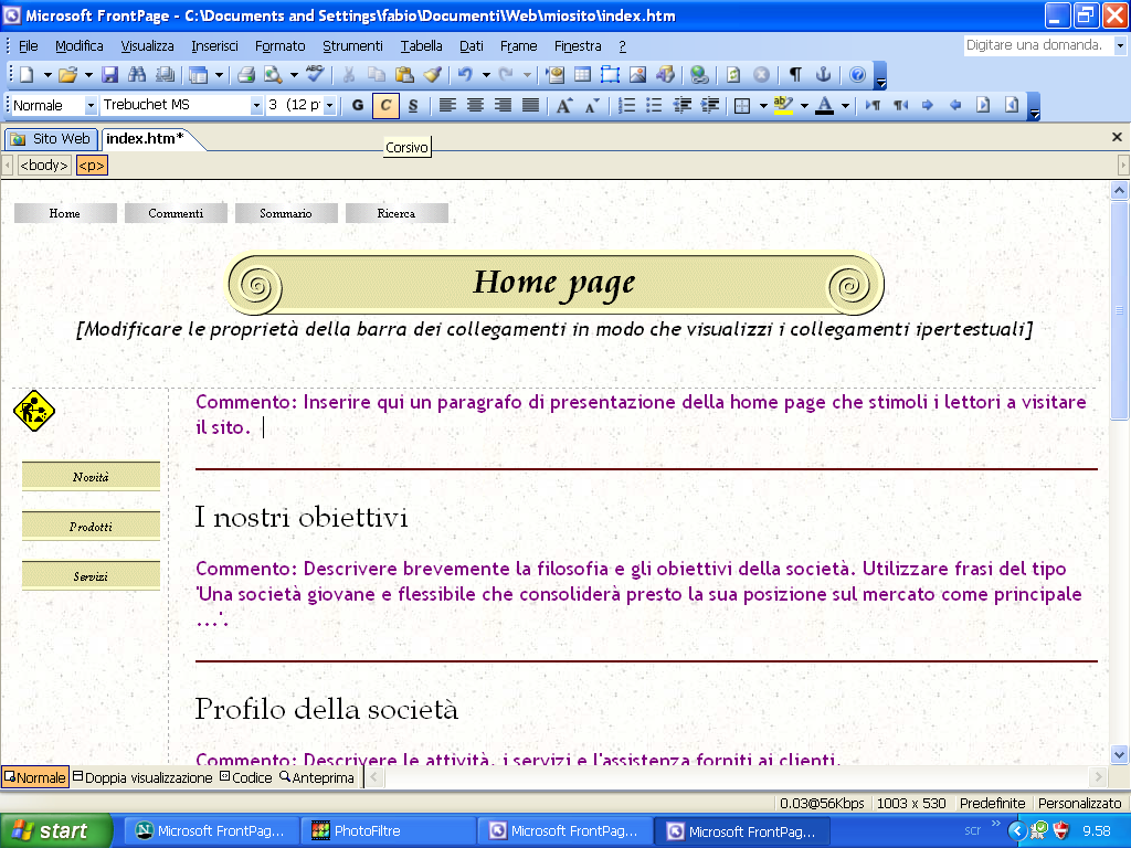 Microsoft FrontPage 2003 for Windows XP