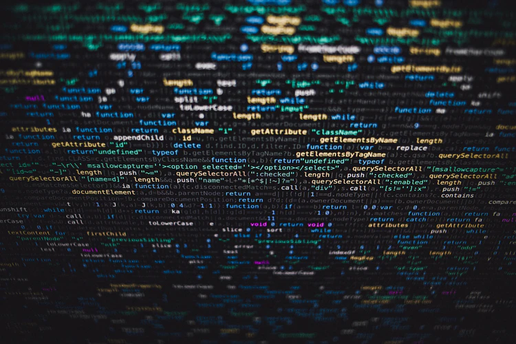screen full of code with different highlights and colors