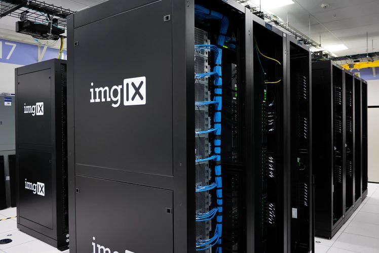 """Large black data servers with the logo """"imgIX"""""""