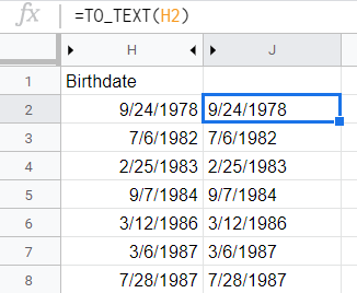 Number converted to string using TO_TEXT() function.